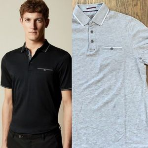 Ted Baker Classic Boomie Polo Size 3 NWOT Grey